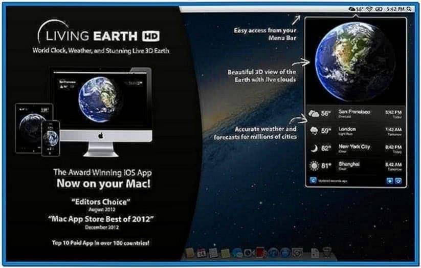 Living Earth Screensaver Mac