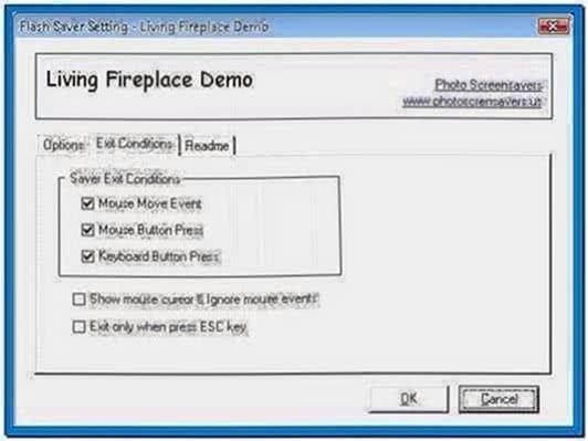 Living Fireplace Video Screensaver Software