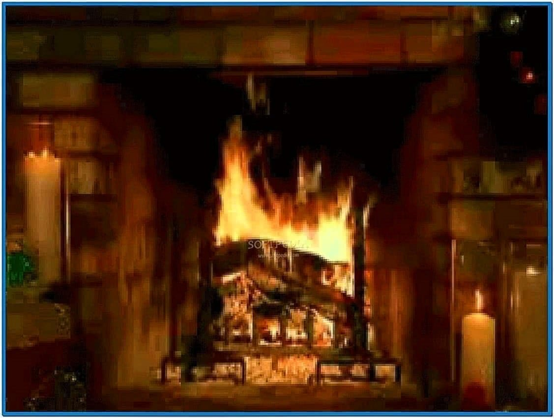 Living fireplace video screensaver software - Download free