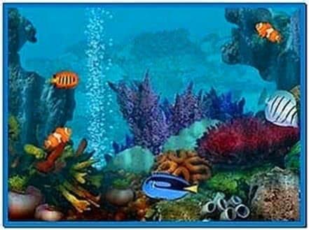 Living marine aquarium 3d screensaver download free for 3d fish tank