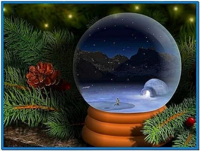 Living Snow Globe Screensaver