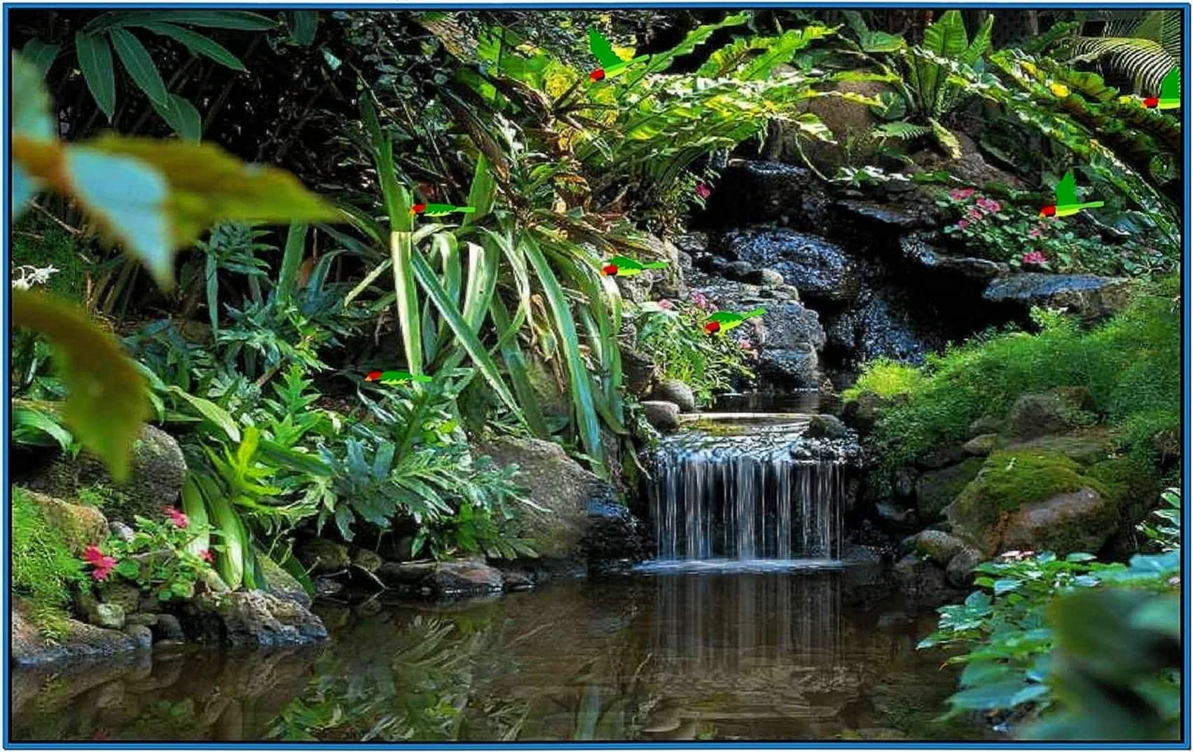 Living waterfalls screensaver Mac