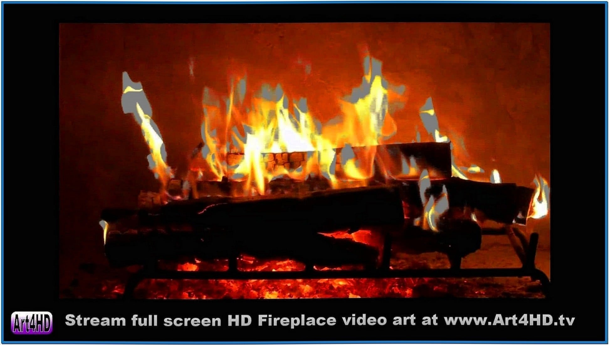 Log fire screensaver for tv