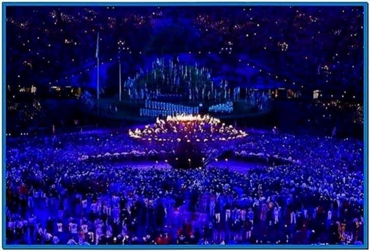 London 2020 Olympic Flame Screensaver