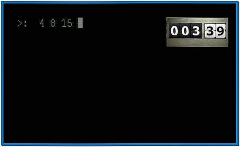 Lost Countdown Timer Screensaver