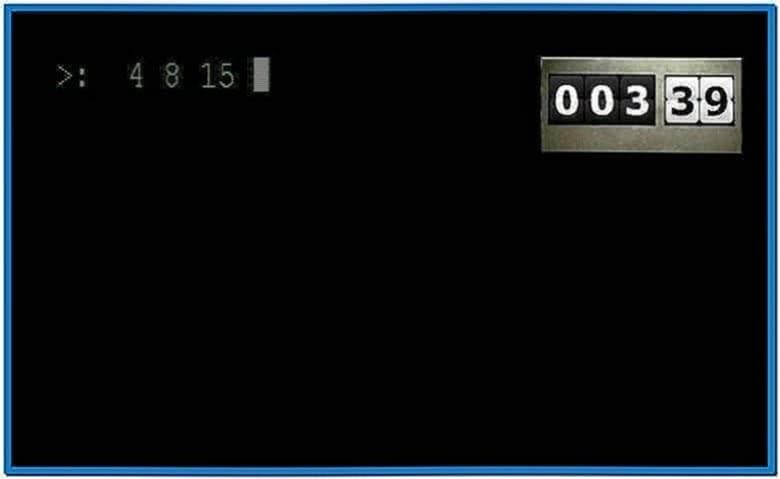 Lost Countdown Timer Screensaver