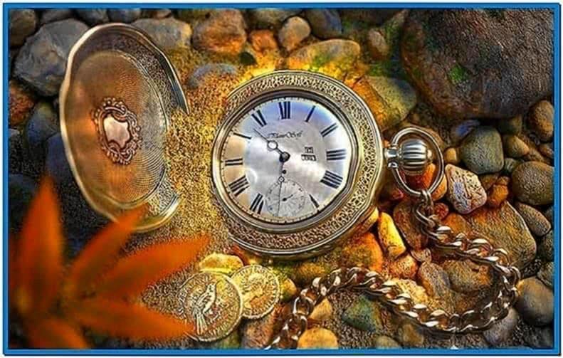 Lost pocket watch screensaver - Download free
