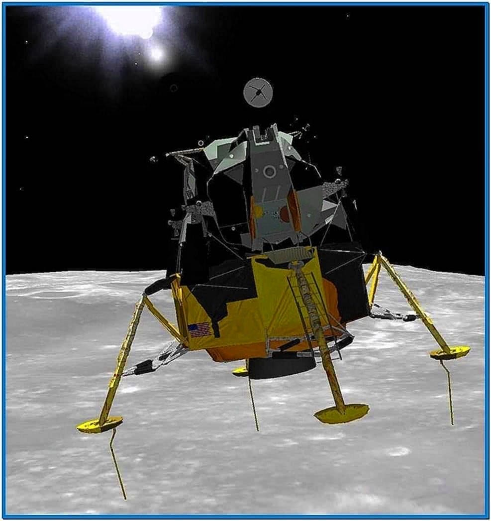 Lunar Landing 3D Screensaver 1.0