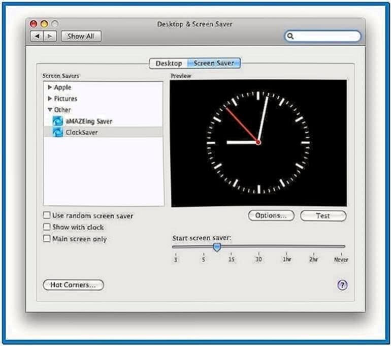 Mac Analog Clock Screensaver