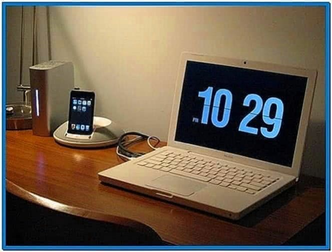 Mac Clock Screensaver PC