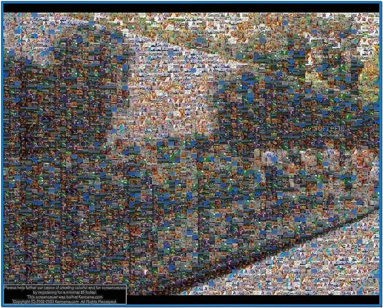 Mac Mosaic Screensaver for PC