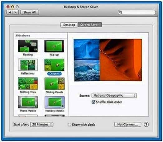 Mac OS 10.8 Screensaver