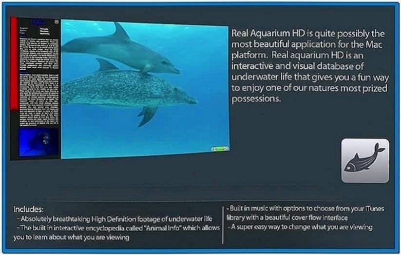 Mac OS X Lion Aquarium Screensaver