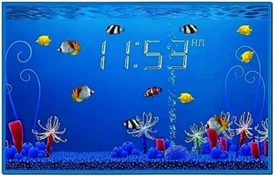 Mac OS X Lion Clock Screensaver