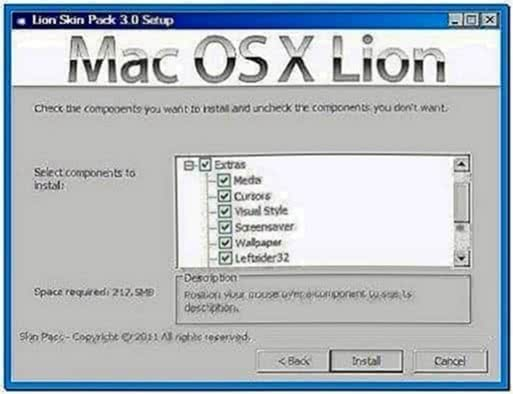 Mac OS X Lion Screensavers Windows 7