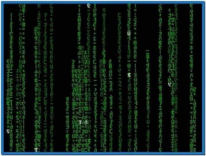 Mac OS X Matrix Screensaver Snow Leopard