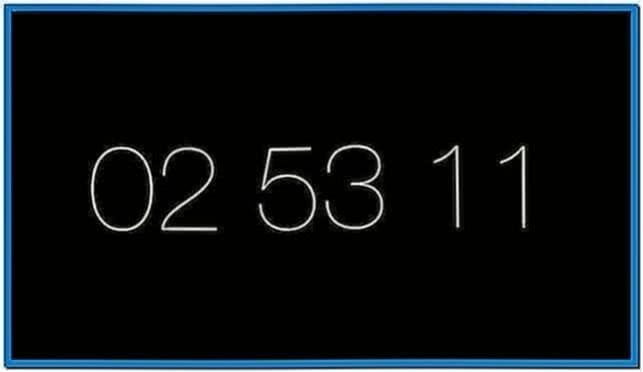 Mac OS X Mountain Lion Screensaver Clock