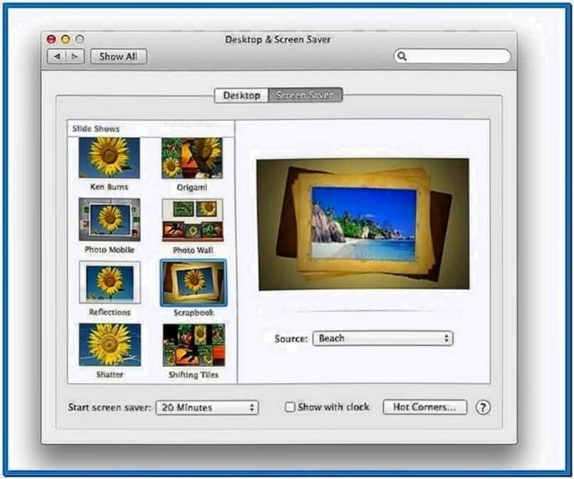 Mac OS X Mountain Lion Screensaver Iphoto