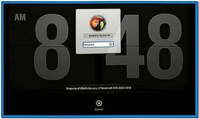 Mac os x screensaver lock screen
