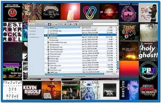 Mac OS X Terminal Screensaver Background
