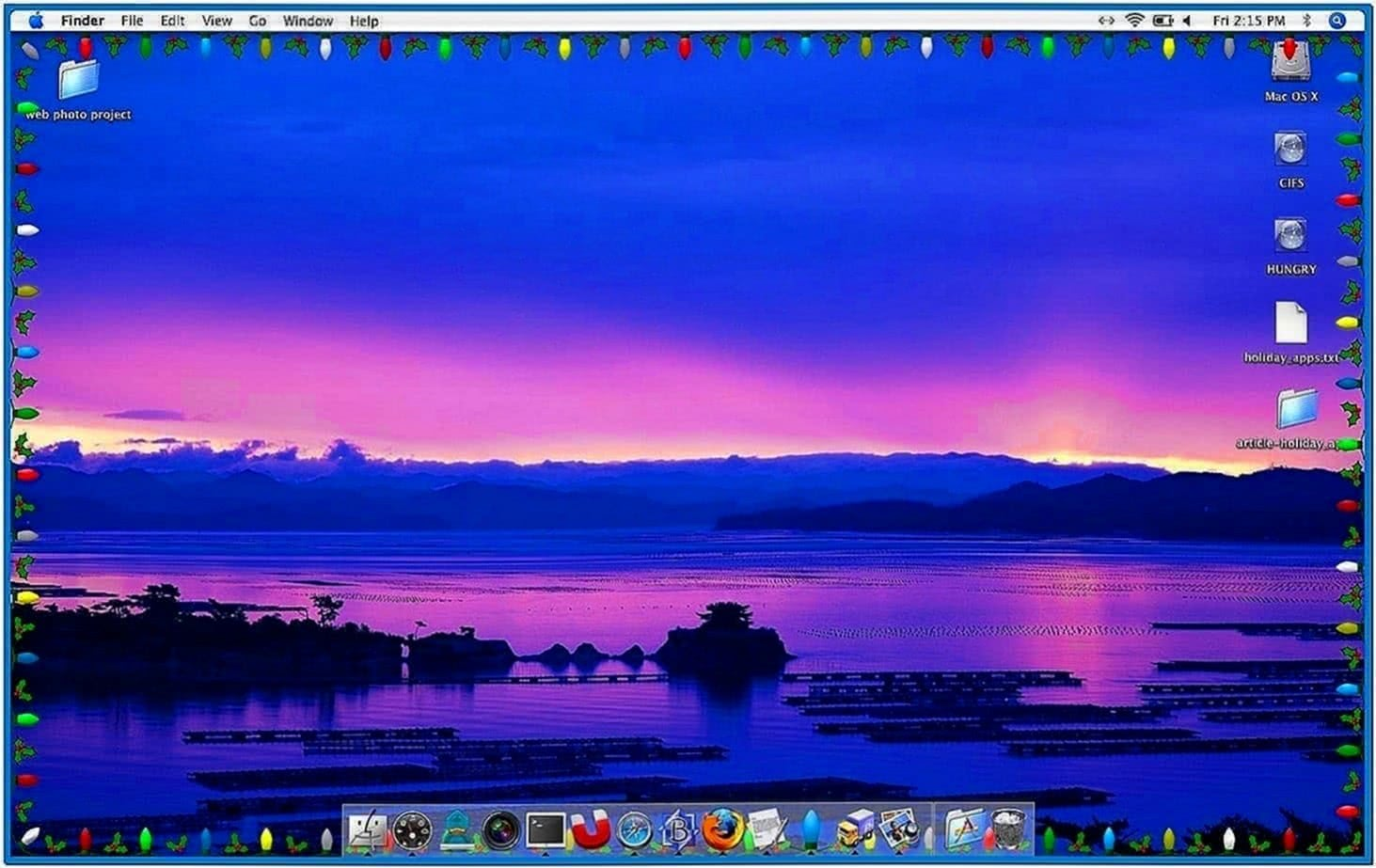 Mac Screensaver Christmas Lights