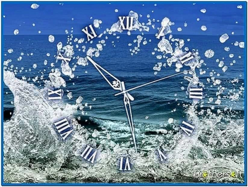 Mac Screensaver Water Clock
