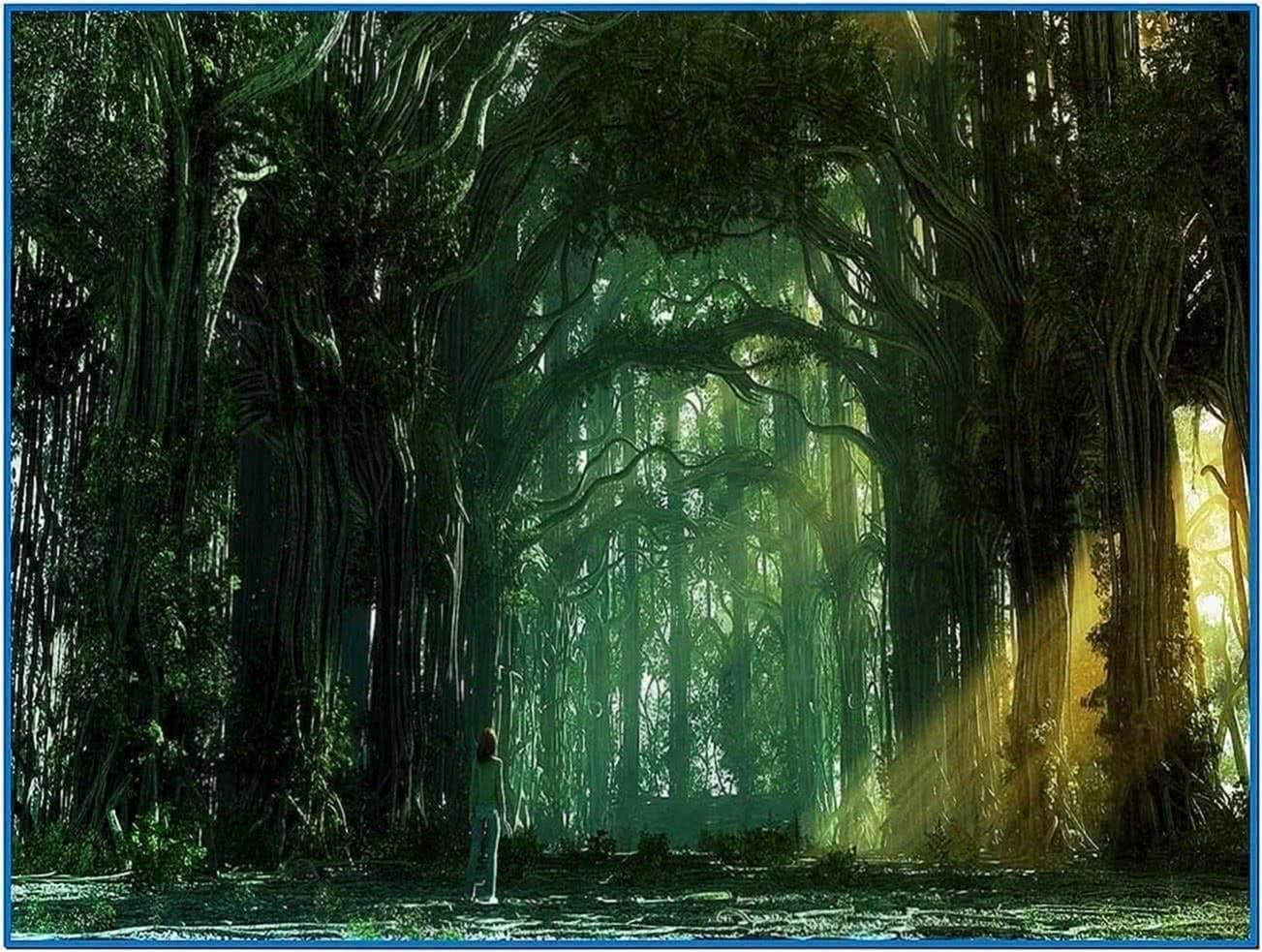 Magical forest screensaver