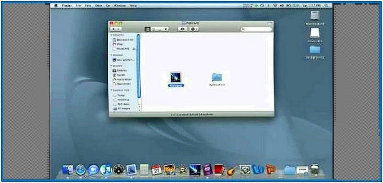 Make Screensaver Desktop Background
