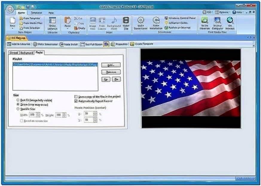 Make Video Screensaver Windows XP