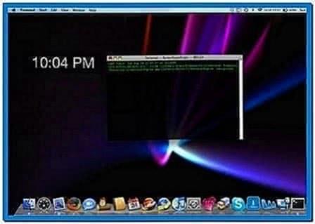 Make Your Screensaver Your Desktop Background