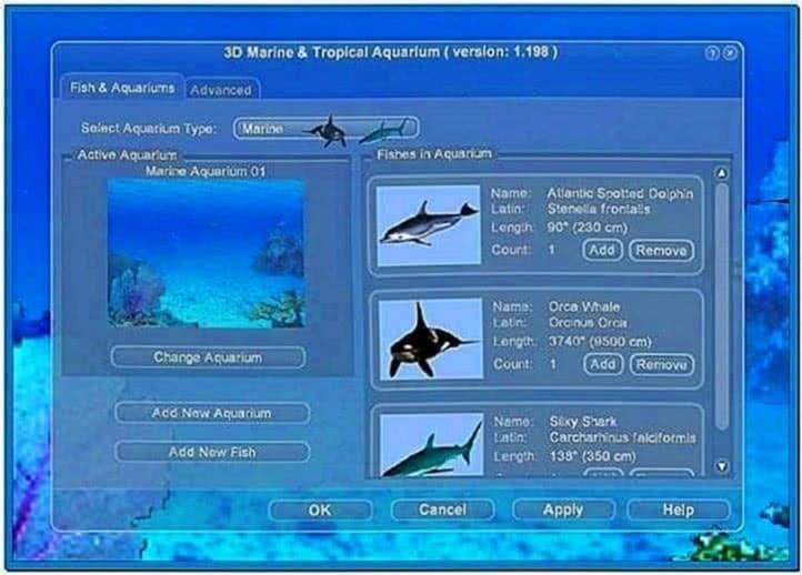 Marine Aquarium Screensaver Windows XP