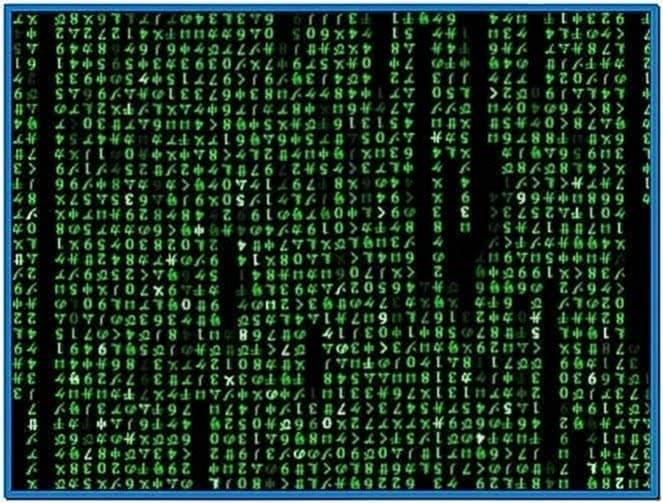 Matrix code emulator screensaver 1.36