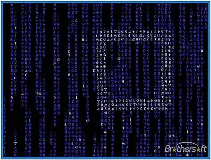 Matrix Code Emulator Screensaver 1.5
