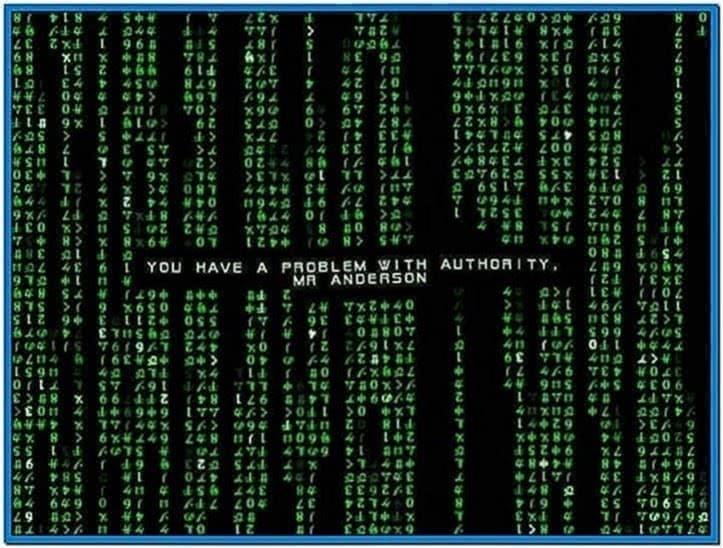 Matrix code emulator screensaver 1.6