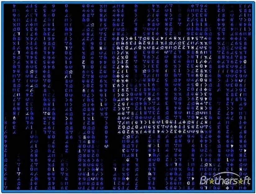 Matrix Code Emulator Screensaver Software