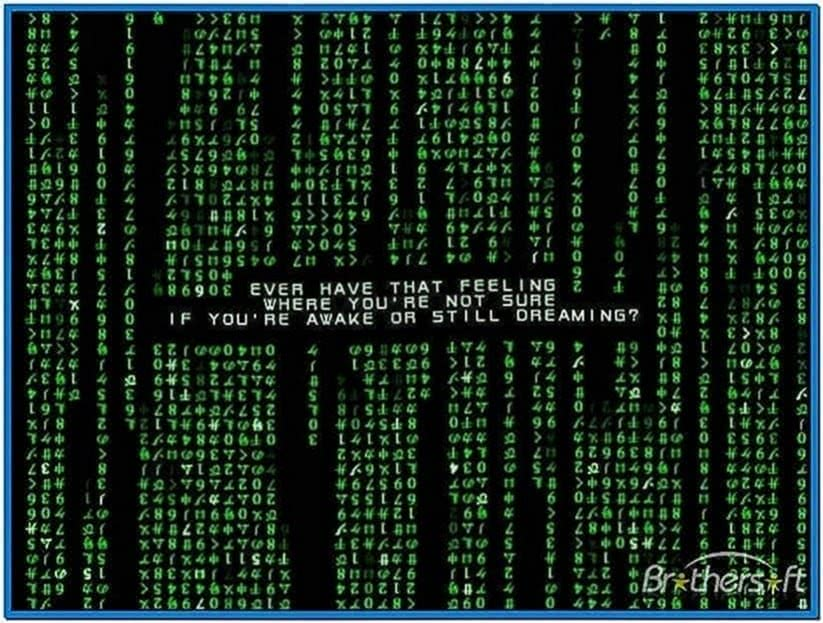 Matrix code emulator screensaver windows 7 - Download free