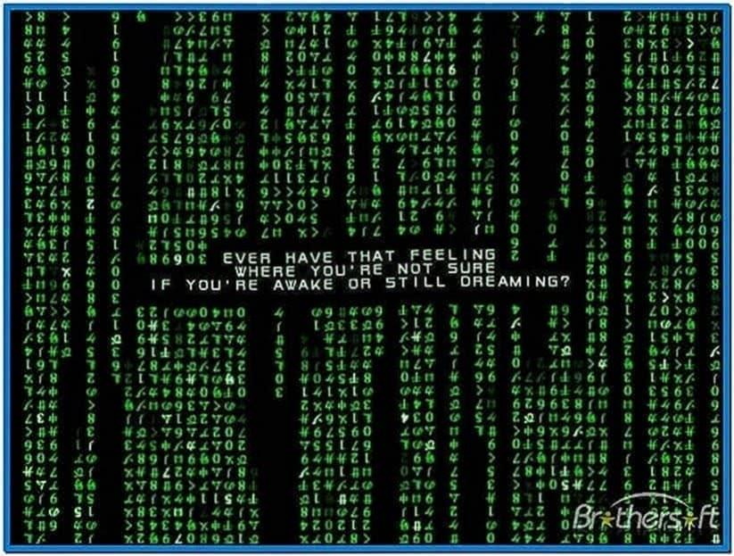 Matrix Code Emulator Screensaver Windows 7