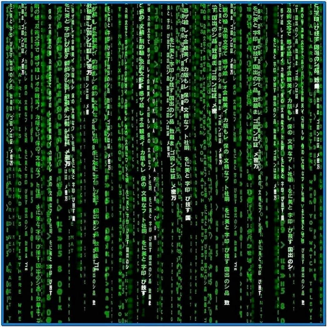 Matrix Code Screensaver iPad