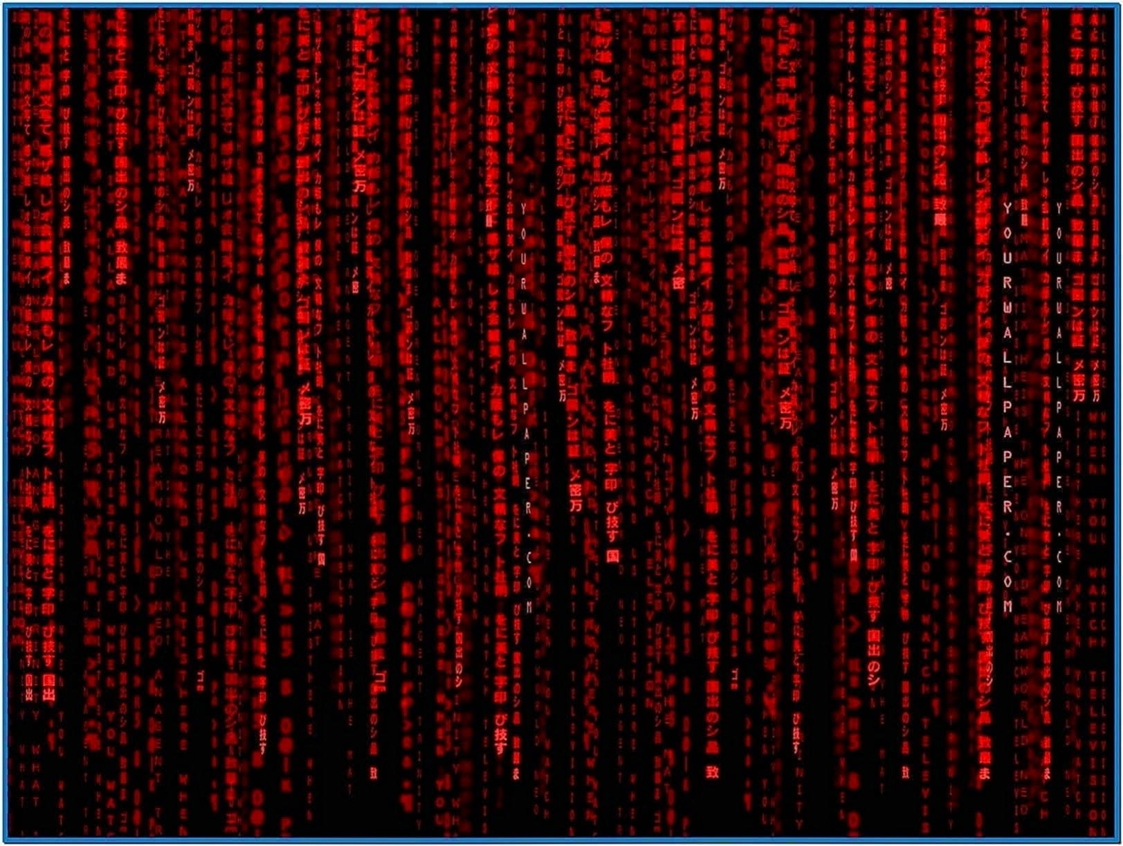 Matrix Code Screensaver Red