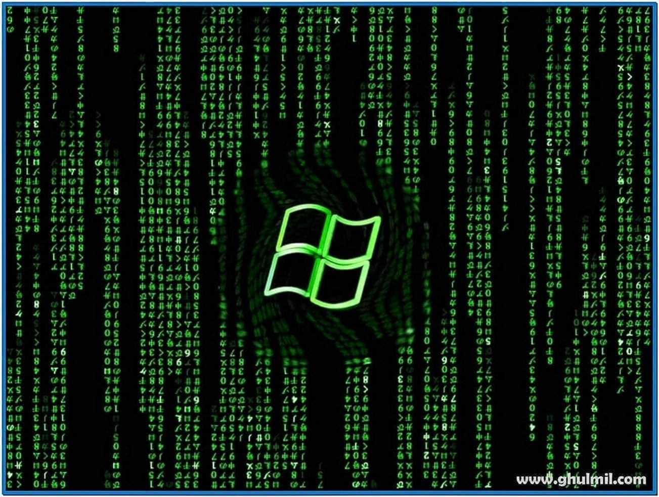Matrix Code Screensaver Windows 7 64bit