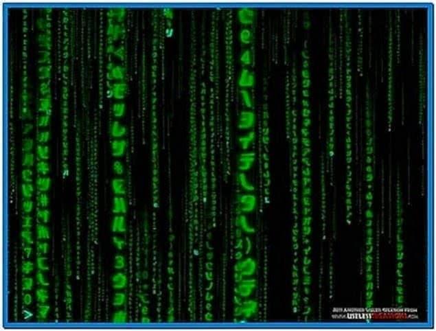 Matrix Rain Screensaver