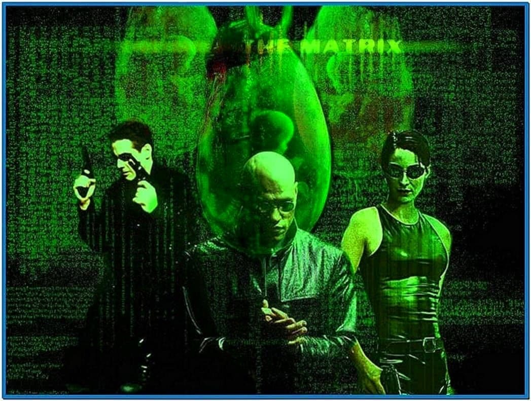 Matrix screensaver 1999