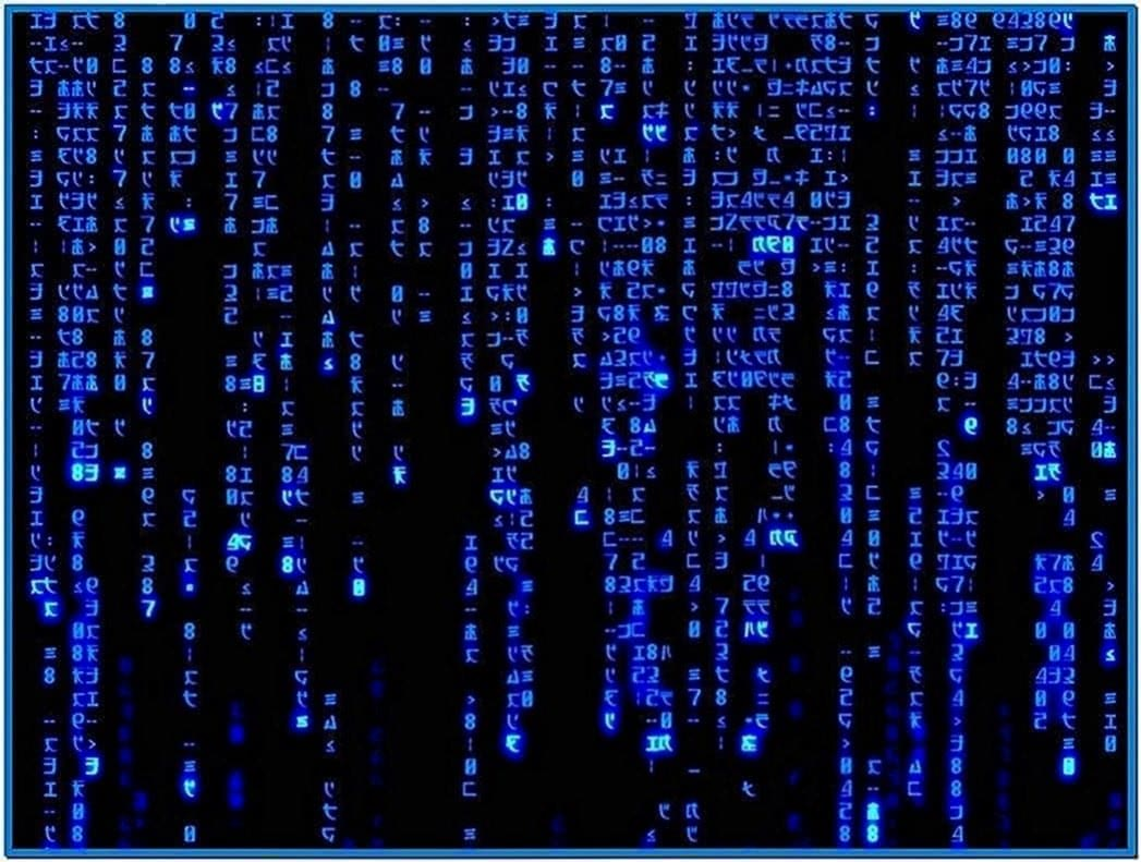 Matrix screensaver animated gif - Free download