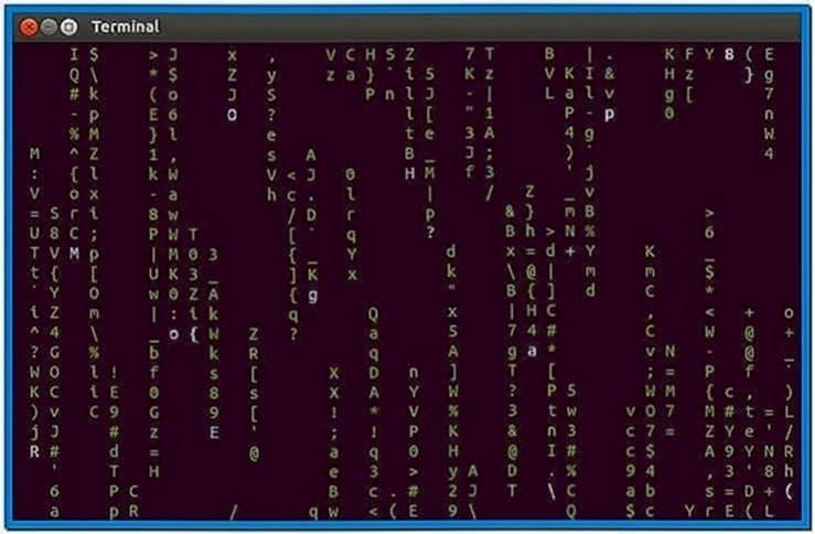 Matrix Screensaver Linux Terminal
