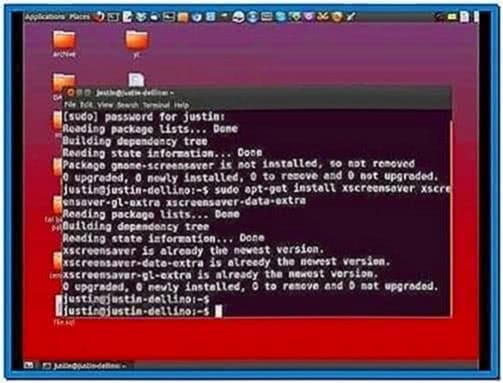 Matrix Screensaver Ubuntu 12.10