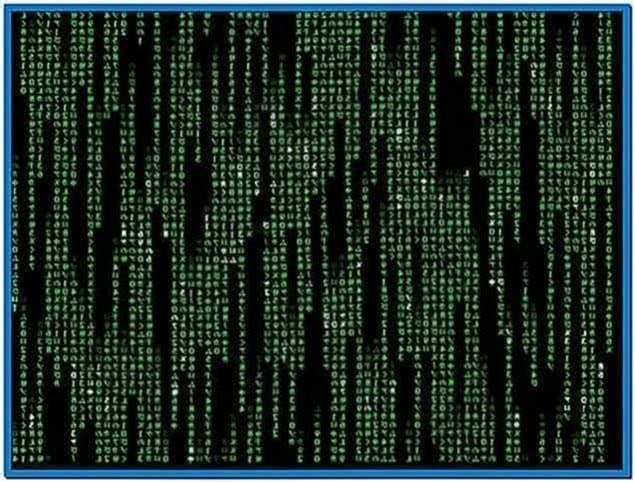 Matrix screensaver Windows 7 32bit