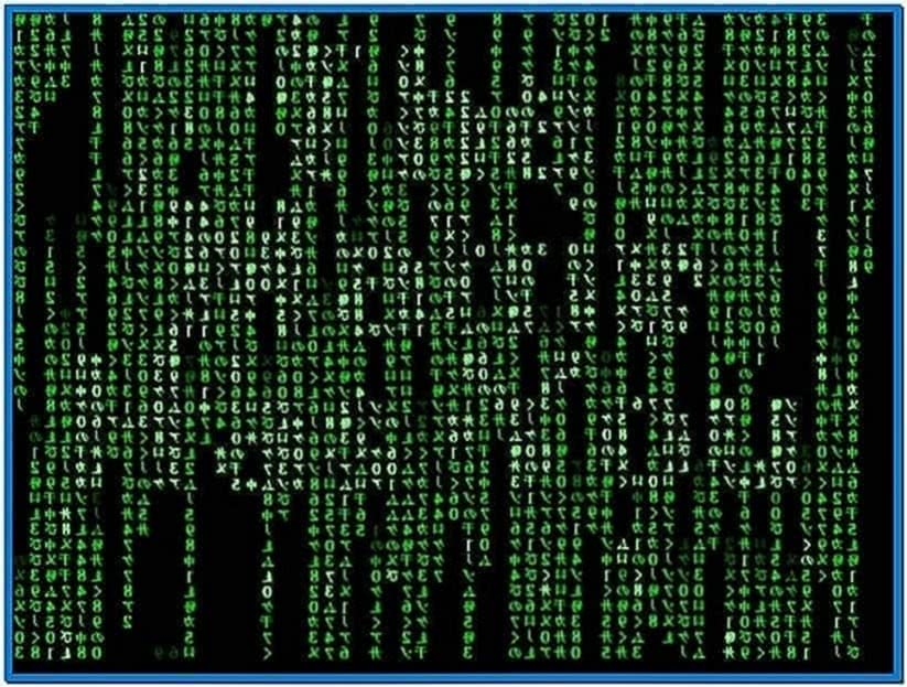 Matrix Screensaver Windows Vista