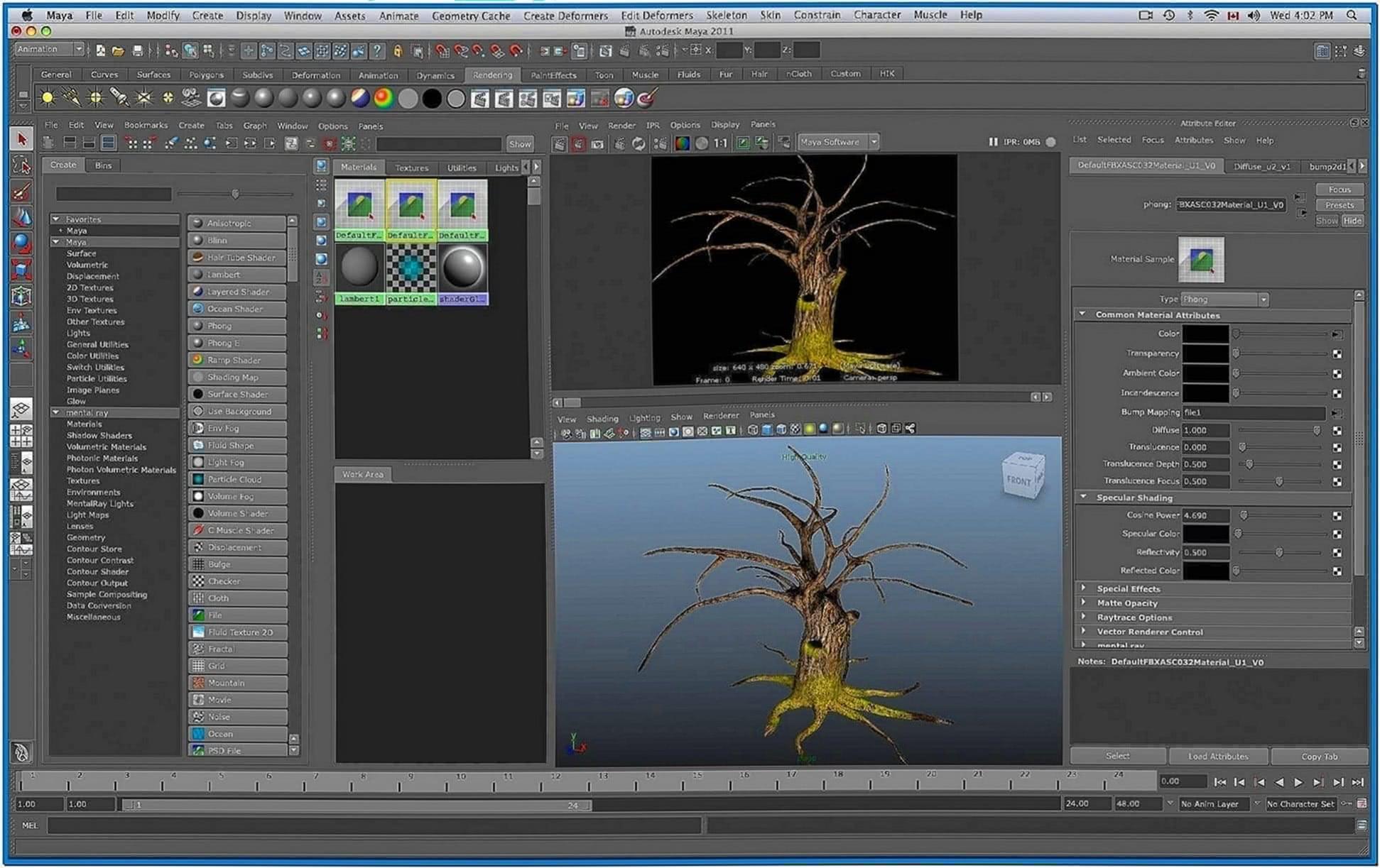Maya Screensaver Mac OS X