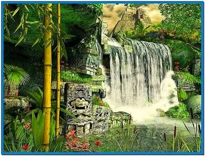 Mayan Waterfall 3D Screensaver 1.0 3planesoft