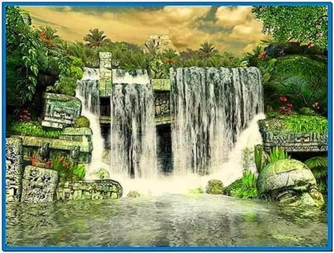 Mayan Waterfall 3D Screensaver 1.0